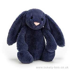 Bashful Navy Bunny Small by Jellycat