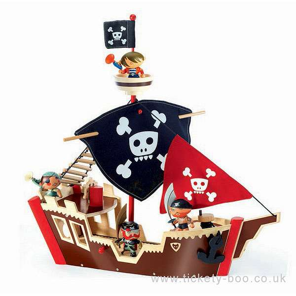 ze pirate boat arty toy by djeco
