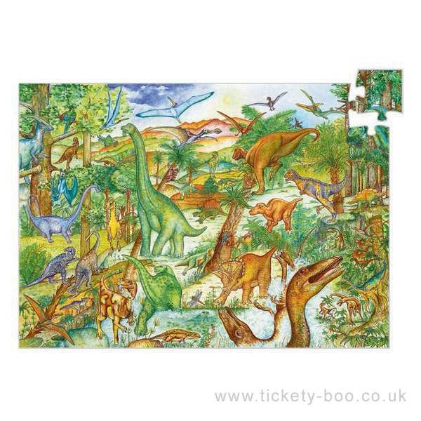 100 pcs dinosaurs puzzle by djeco