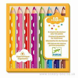 8 Colouring Pencils for Little Ones by Djeco