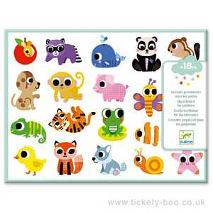 Baby Animals Big Stickers by Djeco