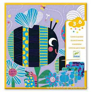 Bugs Scratch Cards by Djeco