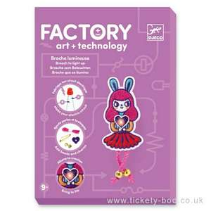 Bunny Girl Brooch Factory E-textil by Djeco